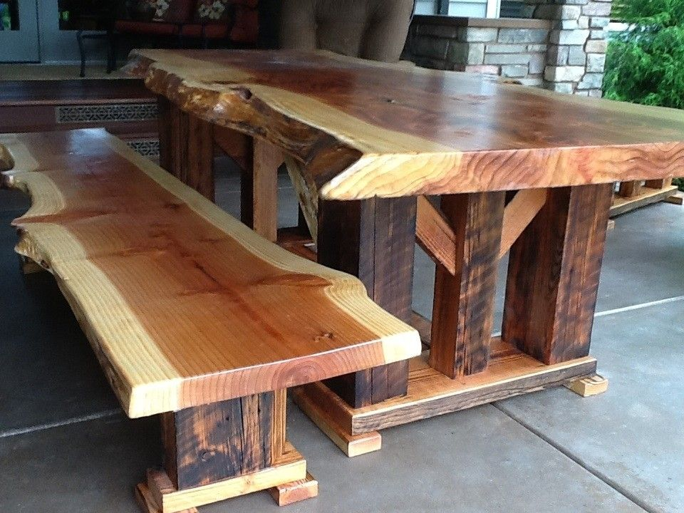 Handmade Redwood Bench Made Of Reclaimed Wood By Toby JS