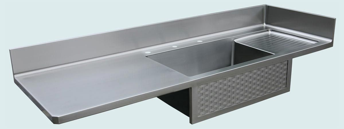 Custom Made Stainless Countertop With Woven Apron by Handcrafted Metal ...