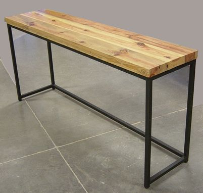 Custom Made Reclaimed Lumber Sofa Table