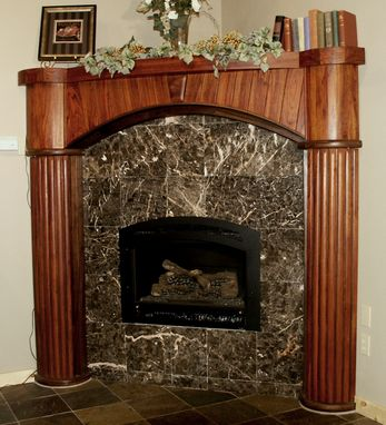 Custom Made Coopered Jatoba Mantel