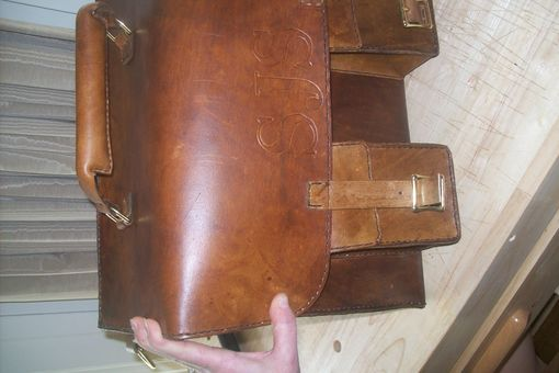 Custom Made Custom Leather Briefcase With Personalization