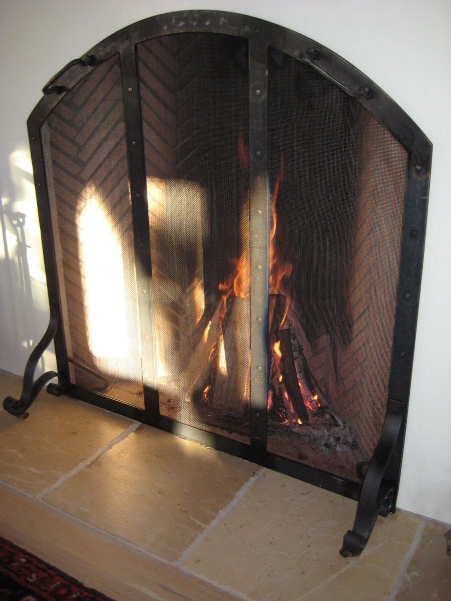 Hand Made Fire Screen By Appalachian Ironworks L L C