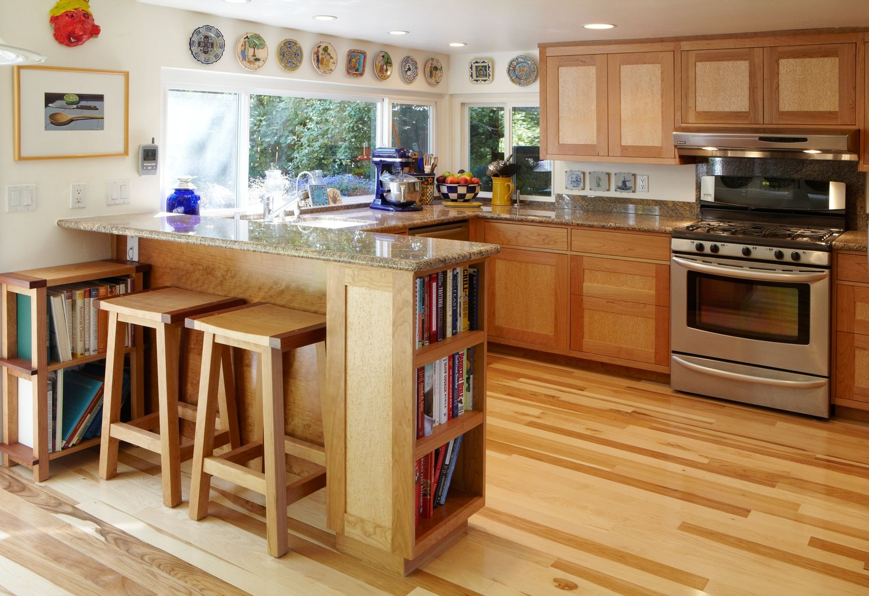 Hand made cherry and birdseye maple kitchen by nepalo for Birdseye maple kitchen cabinets