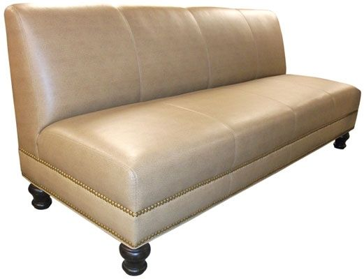hand made armless sofa for law office reception area by. Black Bedroom Furniture Sets. Home Design Ideas