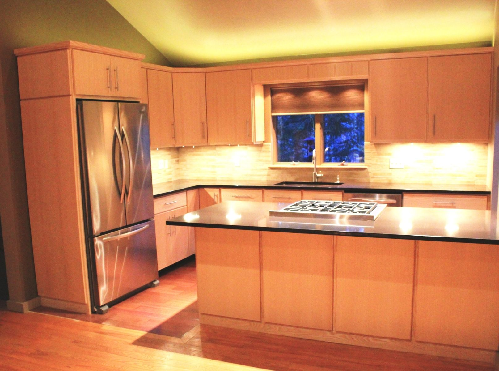 crafted custom ash kitchen cabinets by blue spruce