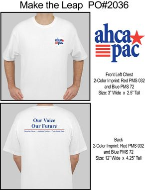 Custom Made Ahca T-Shirts For Their Convention
