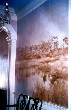 Custom Made Faux Silk Hall Mural