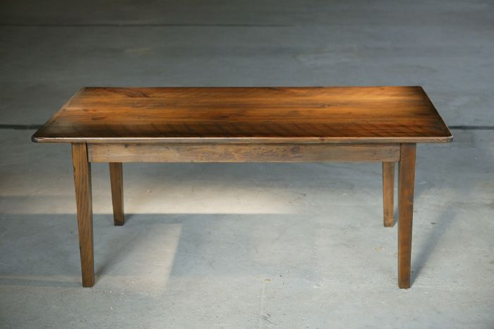 hand crafted dining table with antique walnut wood dining