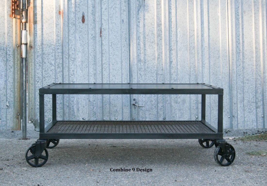 Buy A Custom Made Vinatage Industrial Coffee Table Made