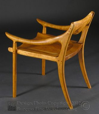 Custom Made Maloof Low-Back Dining Chair In Cherry