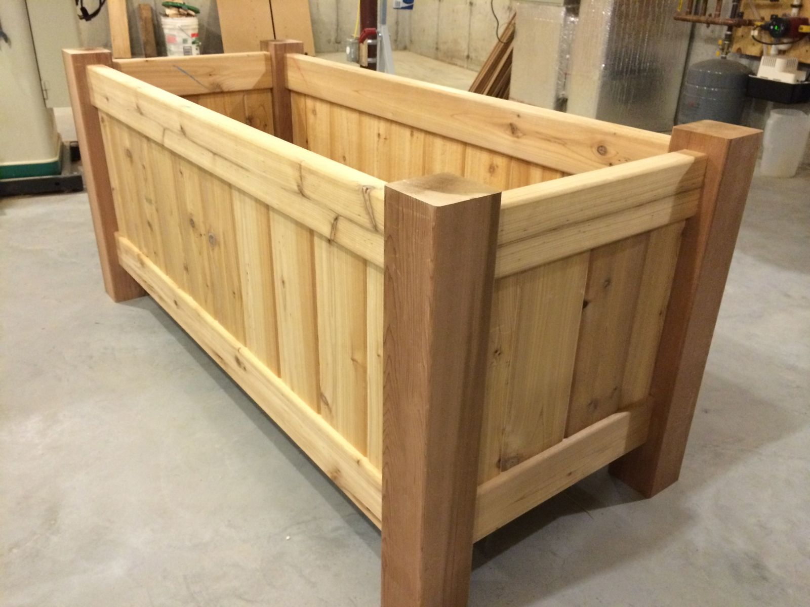 Hand Crafted Red Cedar Planters By Tradecraft Custom