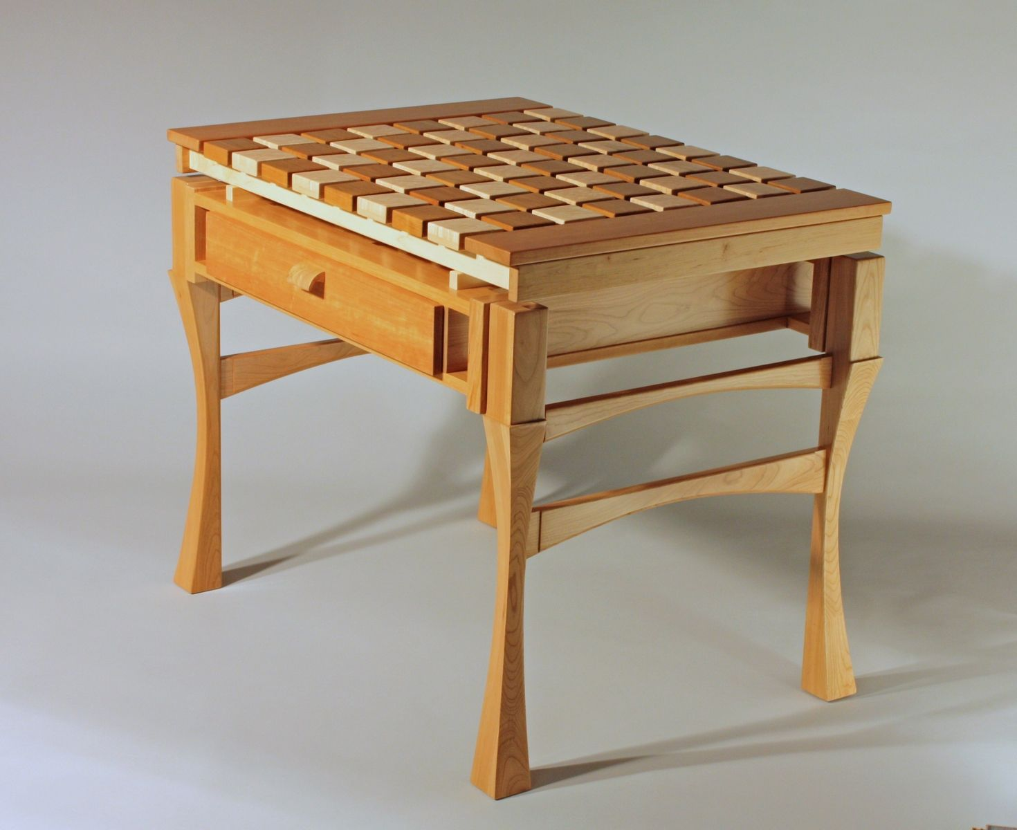 Handmade Moated Chess Table By Joiner Of Fine Furniture