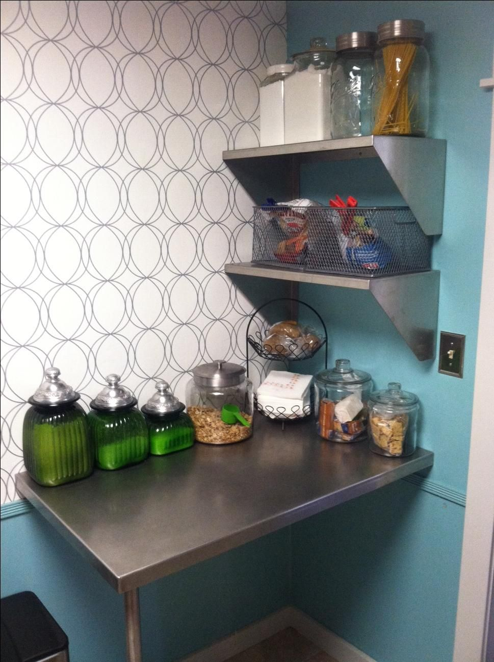 hand crafted stainless steel countertops and shelves by. Black Bedroom Furniture Sets. Home Design Ideas