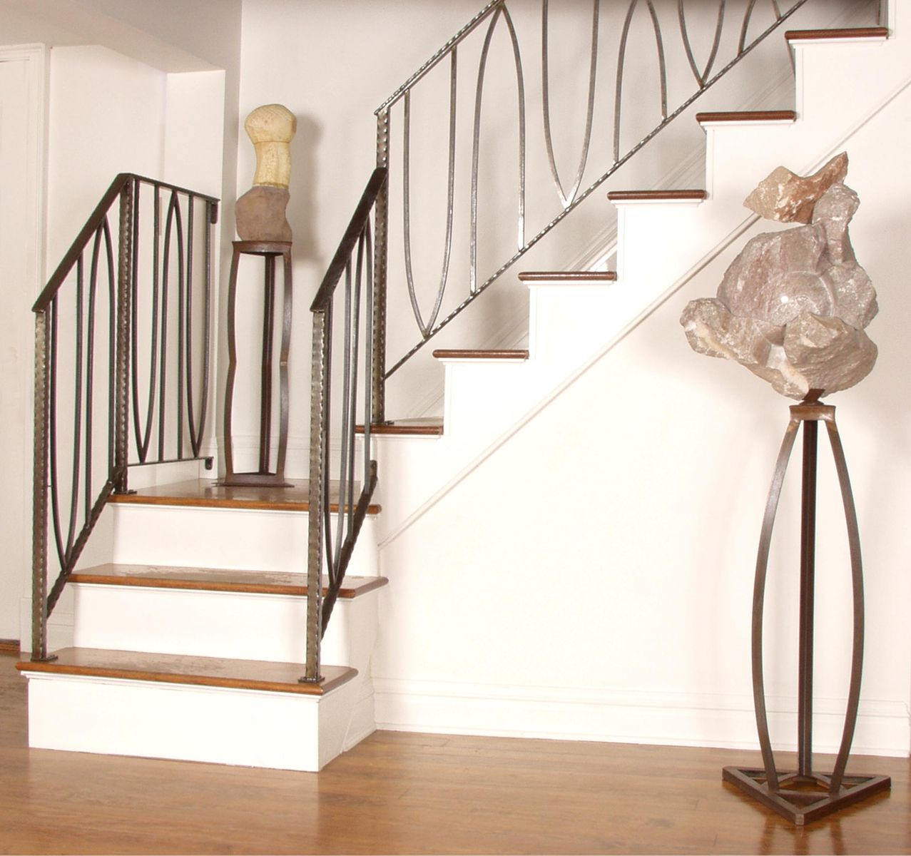 20 Unusual Interior Decorating Ideas For Wooden Stairs: Hand Crafted Anahata Stair Railing By Eric David Laxman