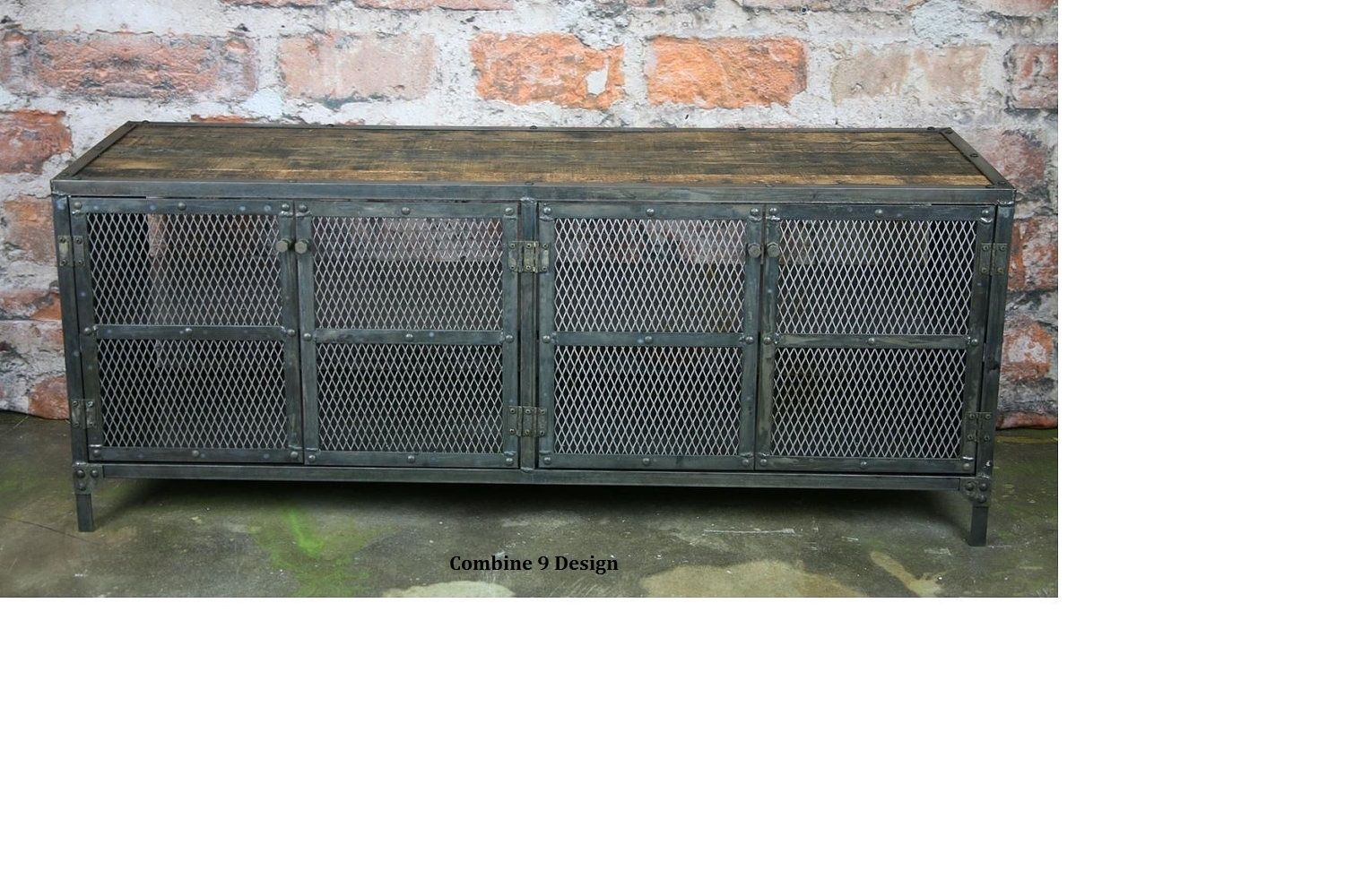 Buy a hand crafted buffet hutch vintage industrial urban for Sideboard industrial design
