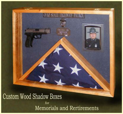 Custom Made Shadow Boxes For Police Retirements