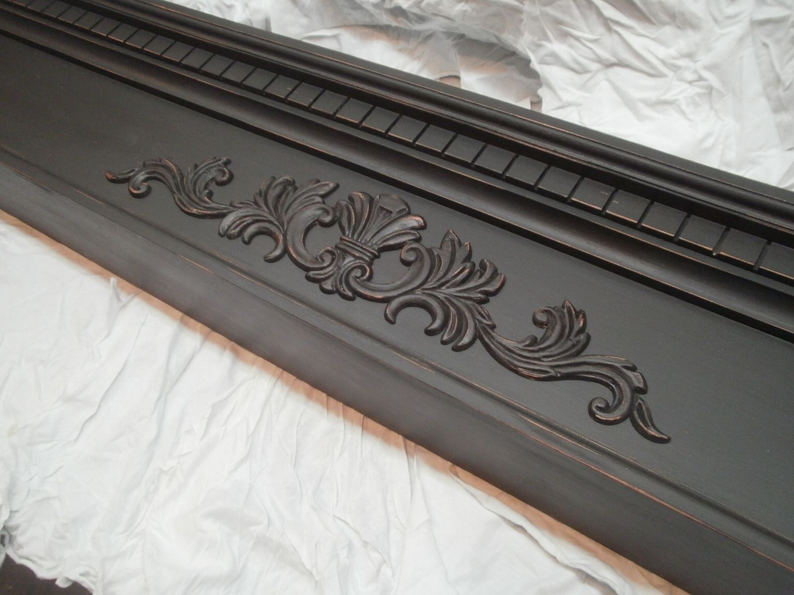 Hand Crafted Slightly Distressed Fireplace Mantel Mantle By C3woodwerks