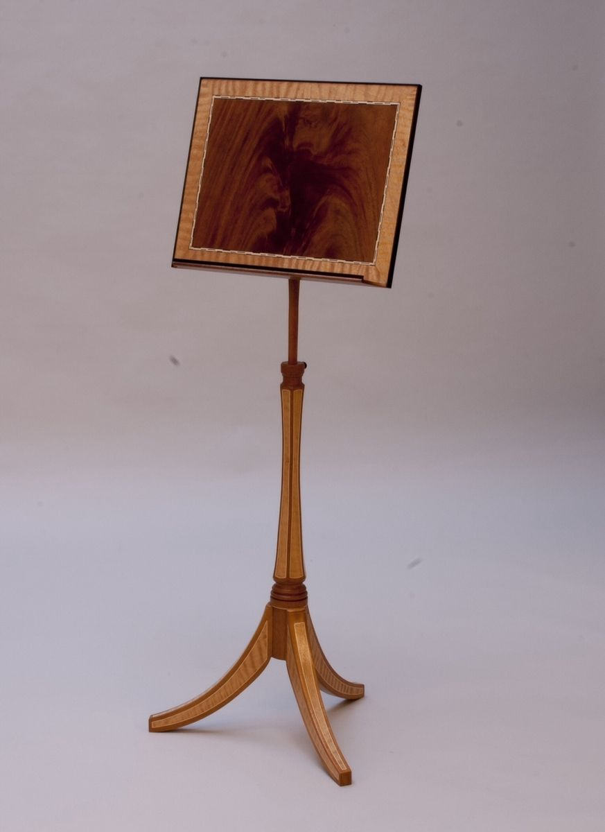 Custom Made Federal Style Music Stand By Strathamwood