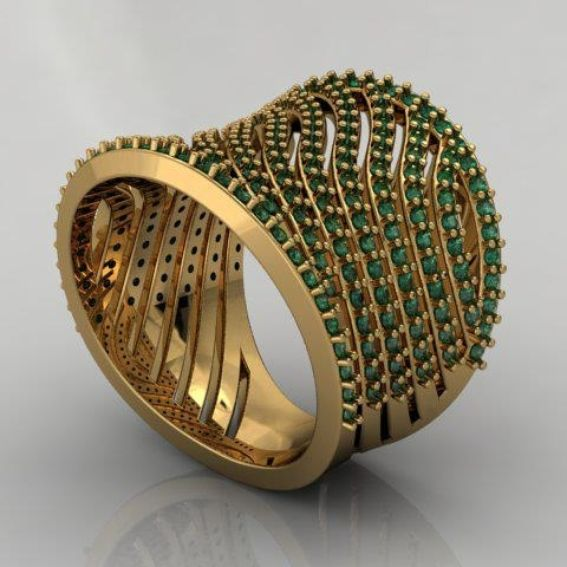 Custom Made Sossi Jewelry Home: Buy A Custom 14kt Yellow Gold Fashionable Emerald Ring