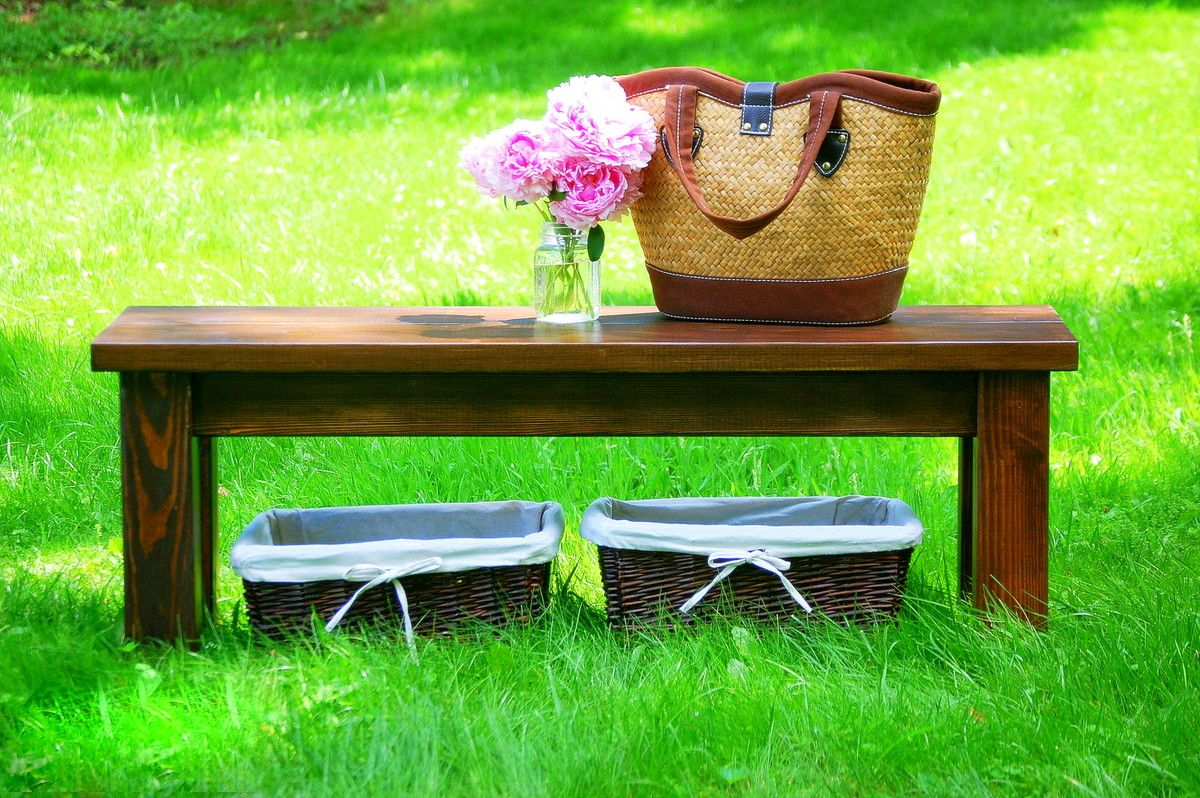 Farmhouse Foyer Bench : Buy a hand crafted rustic farmhouse entryway bench made