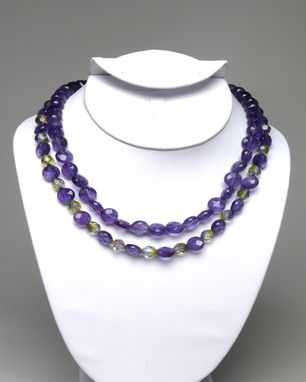 Custom Made Two-Strand Amethyst