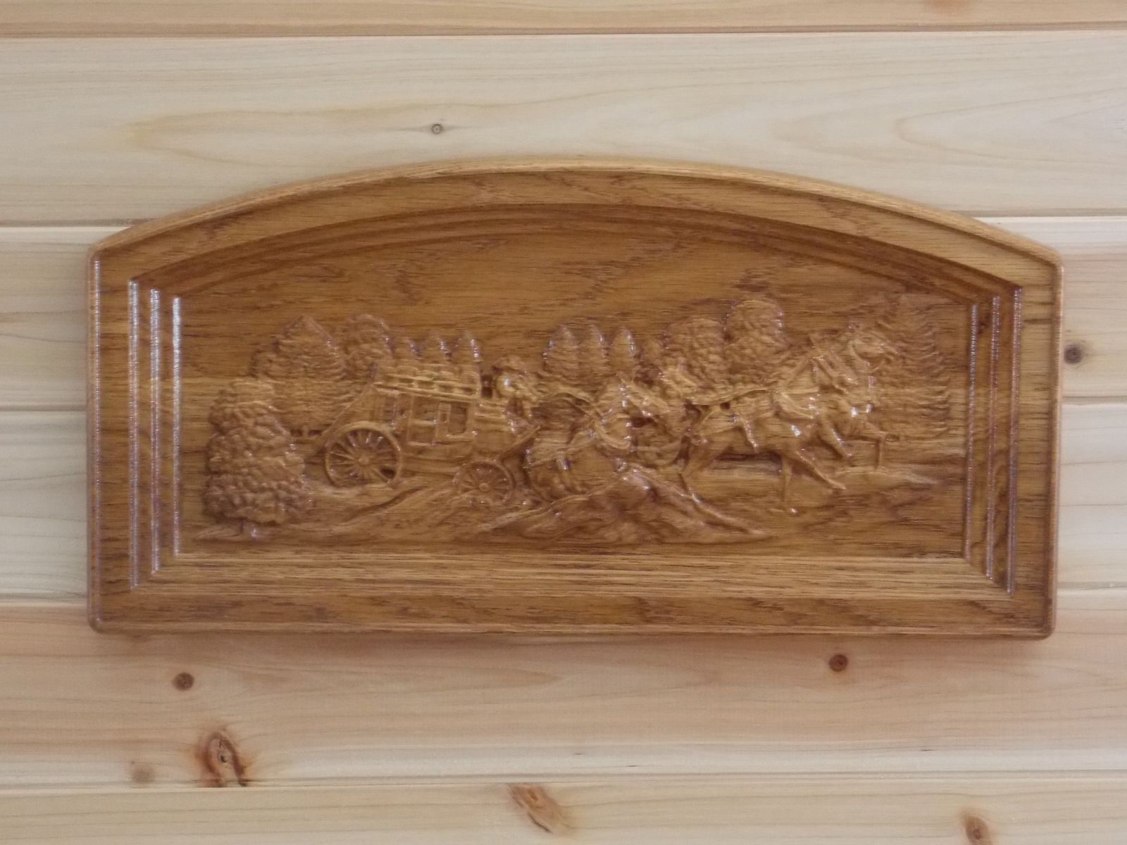 Western Wood Wall Decor : Hand crafted stagecoach country western wall decor rustic