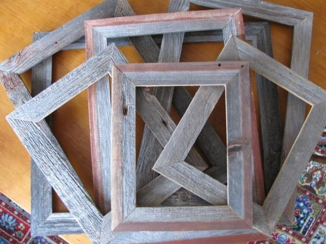 Handmade custom barn wood frames by jeffbuildsfurniture for Things to make out of barn wood
