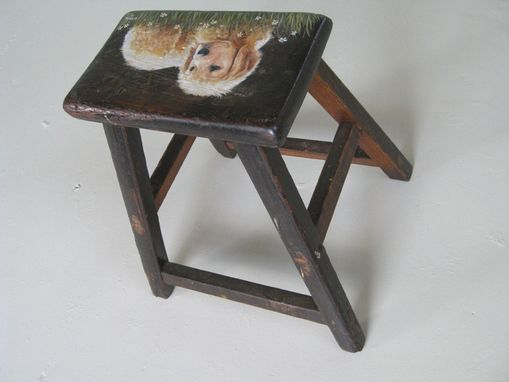 Custom Made Golden Retriever Stool