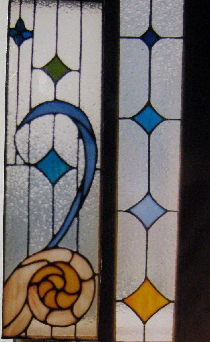 handmade nautical stained glass door inserts by windflower