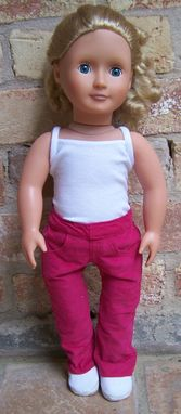 Custom Made Pinwale Corduroy Jeans For American Girl 18 Inch Doll