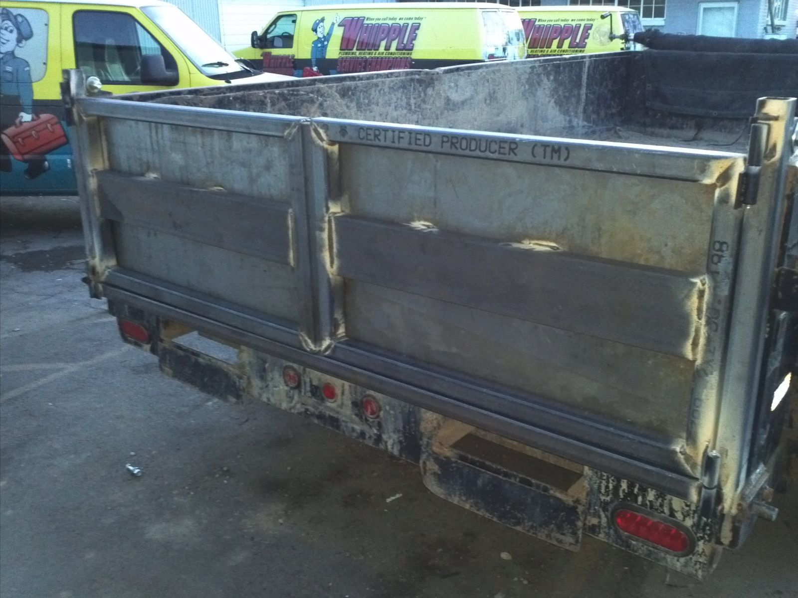 Dump Bed Tailgate Hinge Removable Pin : Handmade custom dump bed trailer swing gate by a glover