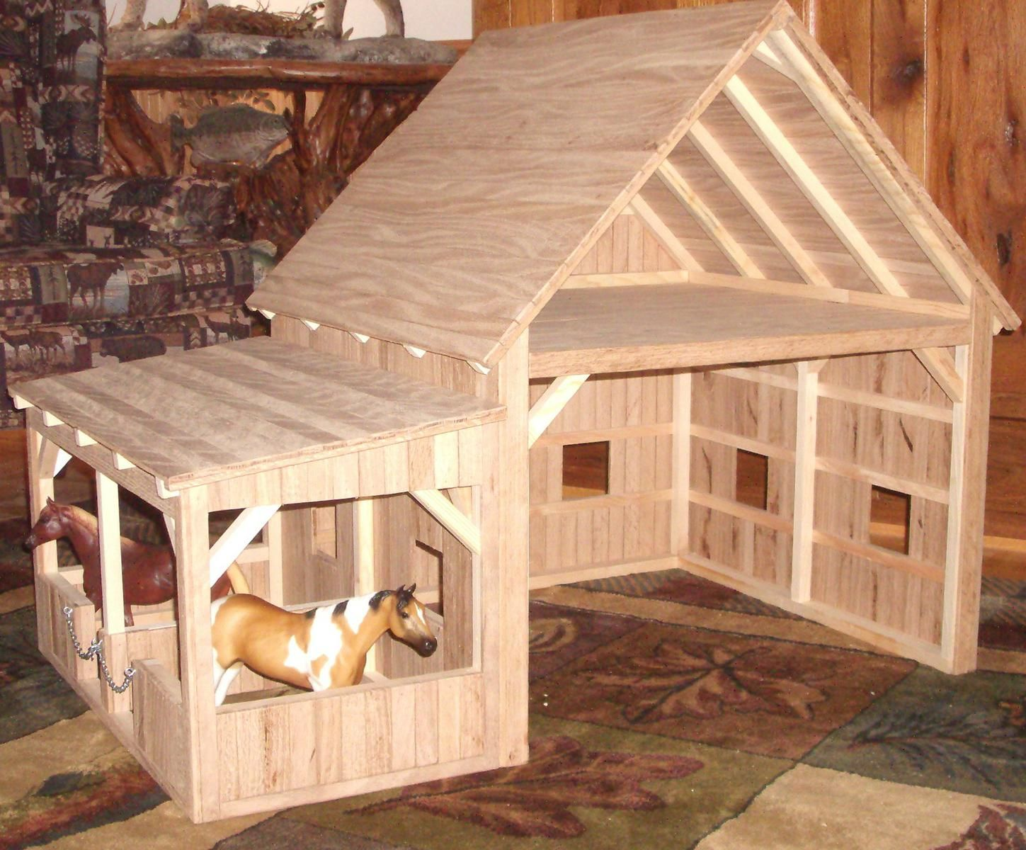 Hand Crafted Wooden Toy Barn #7 by Wild Cat Hollow ...