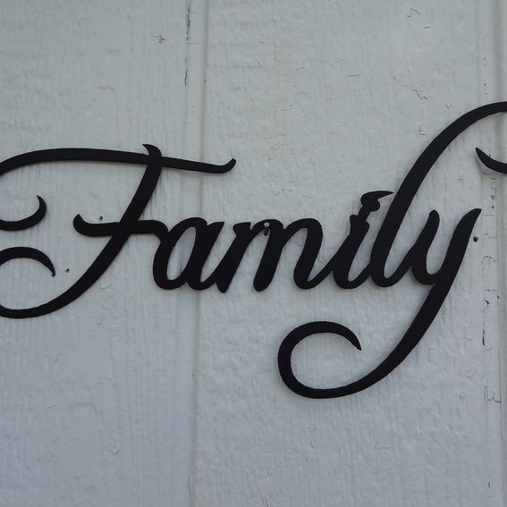 Word Art Home Decor: Hand Made Family Word Decorative Metal Wall Art Home Decor