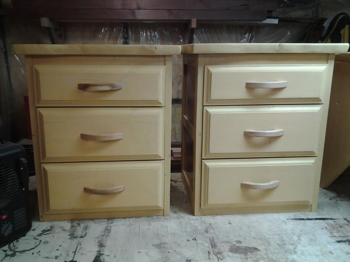 Hand made live edge bedroom furniture by f t c woodworks for Custom made bedroom furniture