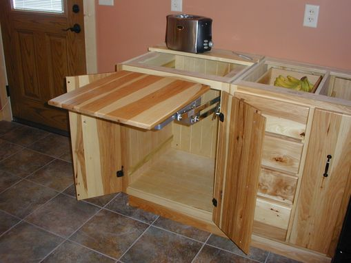 Custom Made Hickory Kitchen And Utility Cabinets