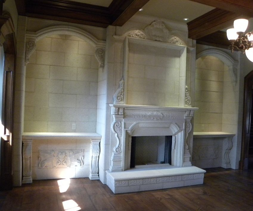 Custom Cast Stone Fireplace Mantels By Coral Stone