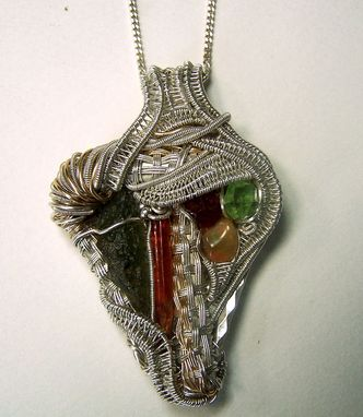 Custom Made Custom Wire Wrap Crystal Jewelry - Necklace Pendant, Earrings, Rings, Brooch Pins