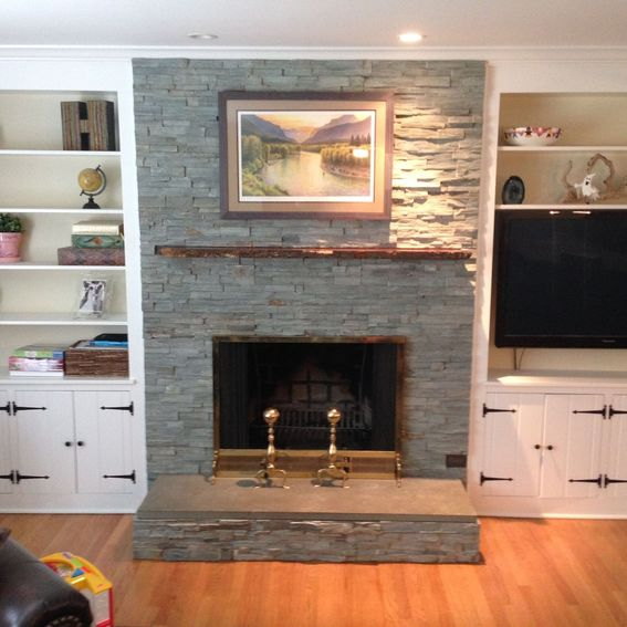 Hand Crafted Live Edge Slab Fireplace Mantle by MAD Custom ...