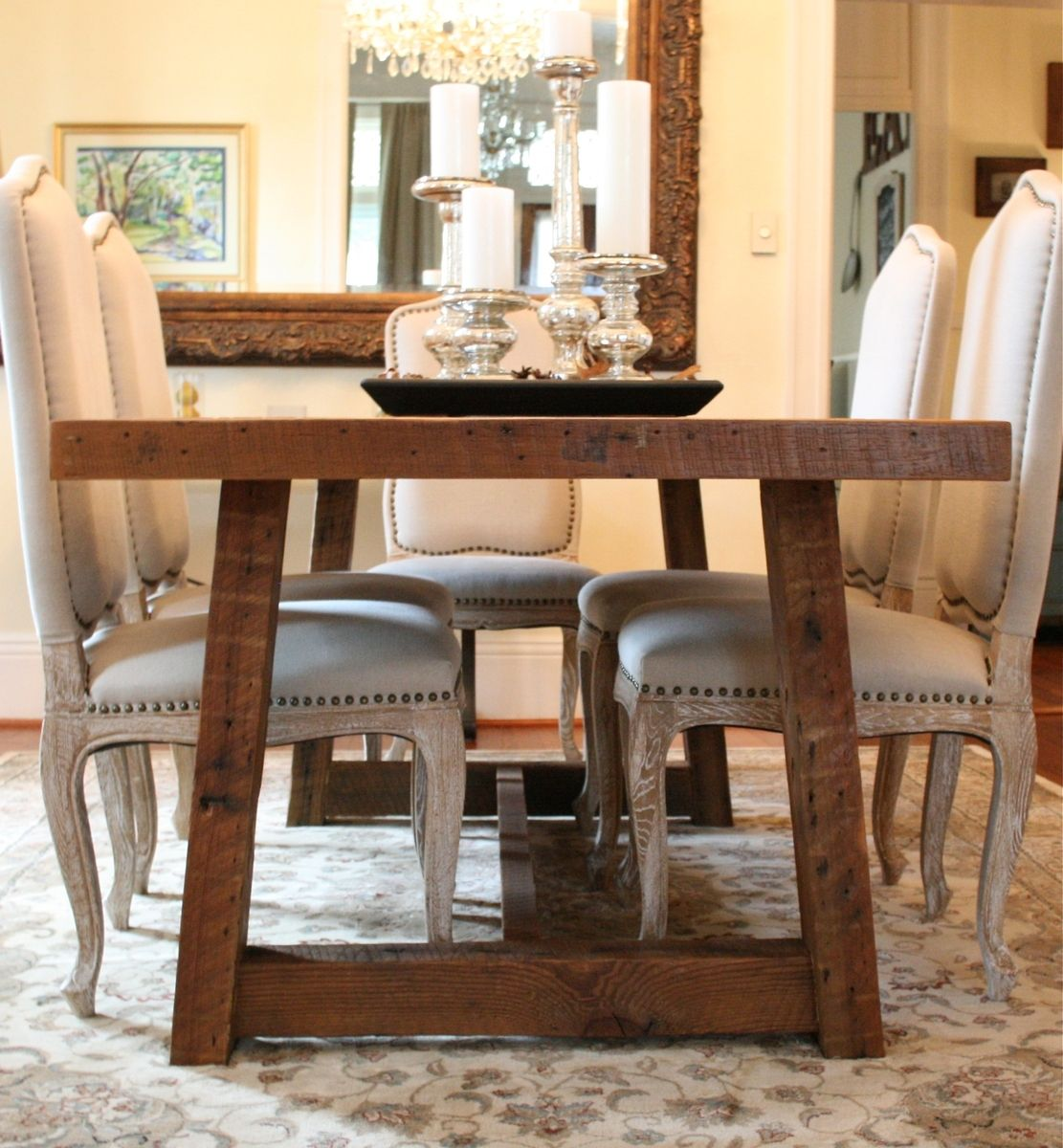 Farm Tables Dining Room: Custom The Pecky Dining Table-Farmhouse Style Table Made