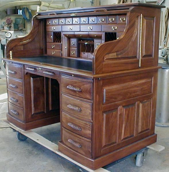 Handmade Custom Built Roll Top Desk By Roll Top Desk Works