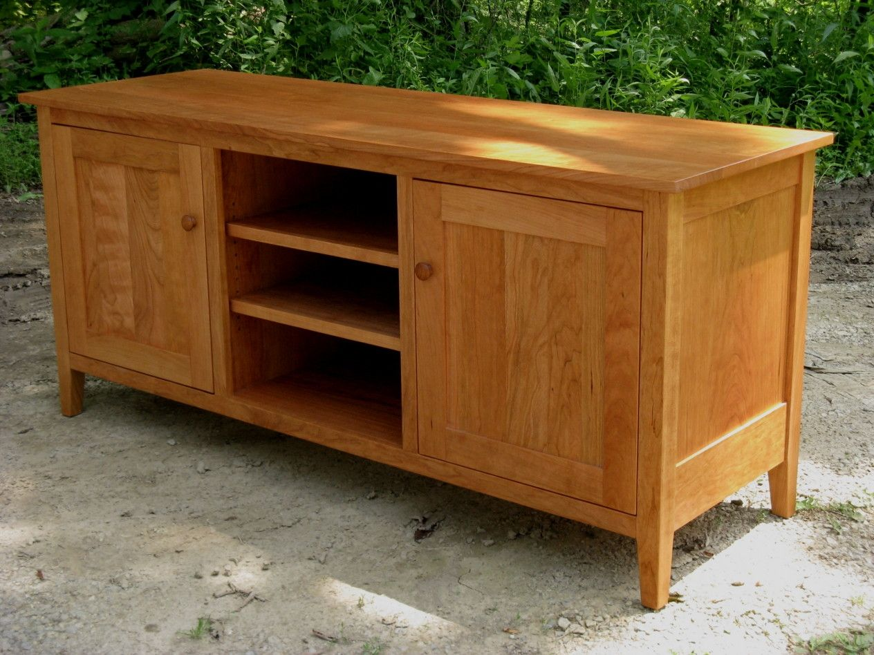 Hand Made Cherry Tv Console By Ivy Lane Fine Furniture