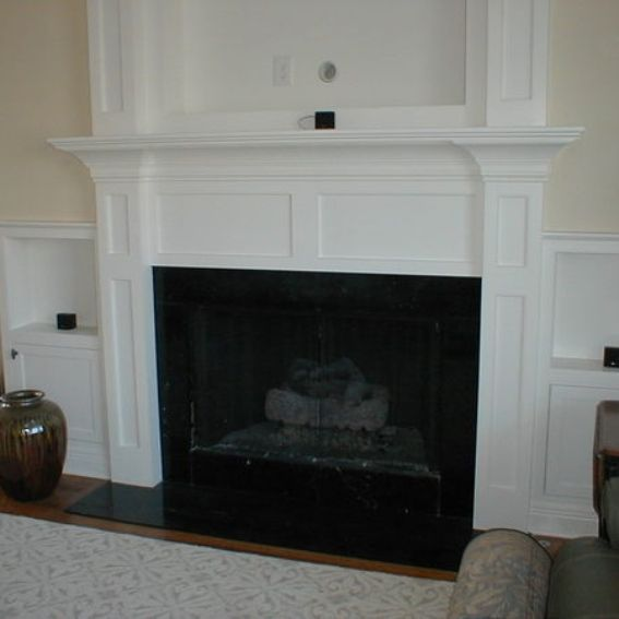 Custom Made Built In Fireplace Mantle For Flat Screen Tv Side Cabinets By Norm 39 S Custom