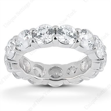 Custom Made Cubic Zirconia Eternity Band