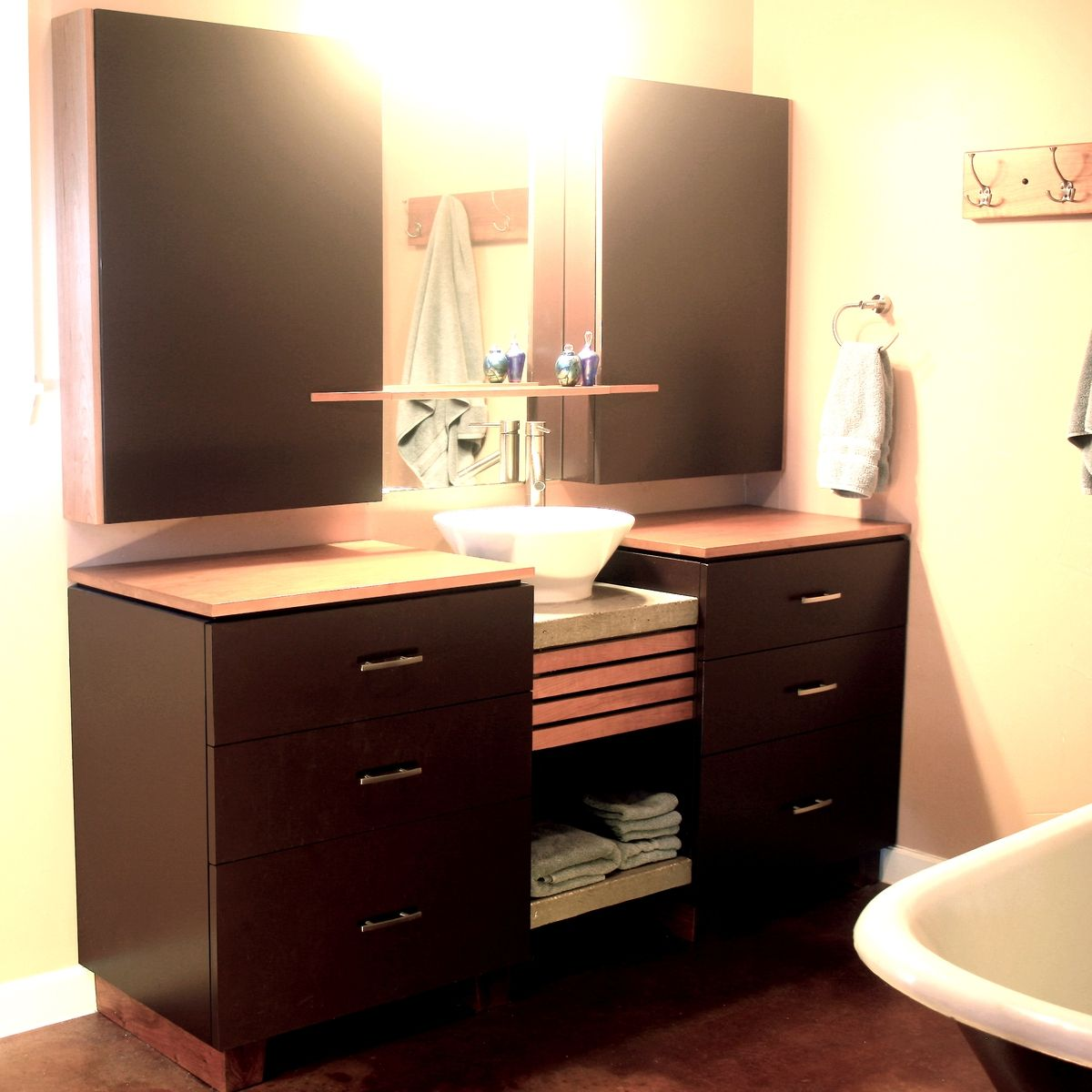 hand made bathroom cabinets by mark love furniture
