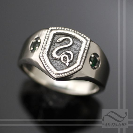 Buy A Hand Made Slytherin House Ring Harry Potter