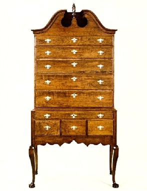 Custom Made Queen Anne Newport Highboy