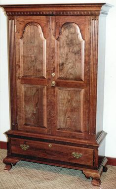 Custom Made Cherry Wardrobe Arched Panels