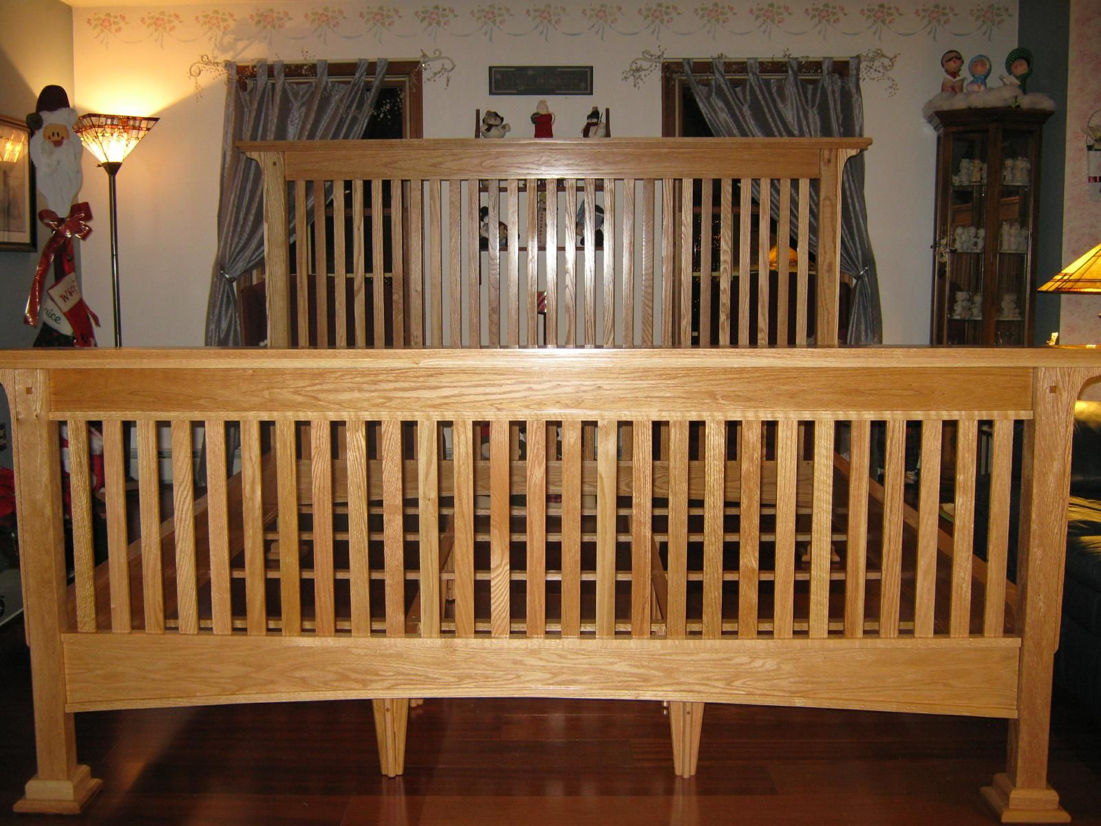 Custom Made Mission Style Red Oak Bed By Duczynski