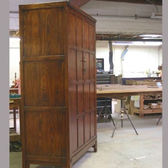 Hand made ash cabinet by westchester wood custommade