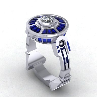 Custom Made R2d2 Ring! Engagement Ring Inspired By Star Wars